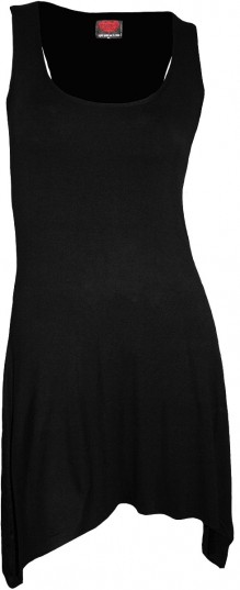 Ženska obleka - Goth Bottom Camisole Dress Black