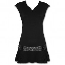 Ženska obleka GOTHIC ROCK - Stud Waist Mini Dress
