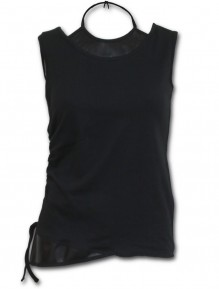 Ženski Top GOTHIC ROCK - 2in1 PU Leather Vest